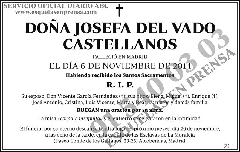 Josefa del Vado Castellanos